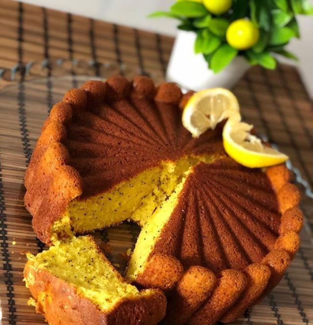 Limonlu Zerdeçallı Kek